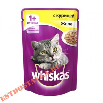 "Купить Желе ""Whiskas"" с курицей 85г"