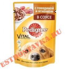 """Корм """"Pedigree"""" говядина, ягненок для собак всех пород 100г"""