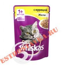 "Корм ""Whiskas"" Желе с курицей для кошек 85г"