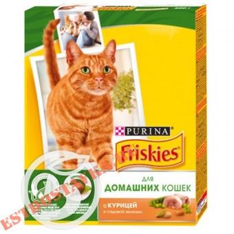 """Купить Корм """"Friskies"""" С курицей и садовой зеленью для кошек 300г"""