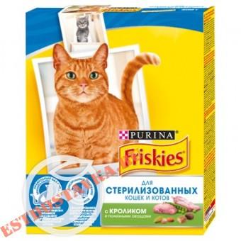 """Купить Корм """"Friskies"""" С кроликом и овощами для стерилизованных кошек/котов 300г"""