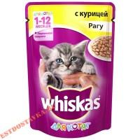 "Корм ""Whiskas"" Рагу с курицей для котят 85г"